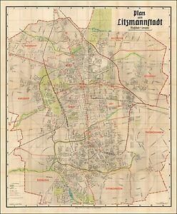 Jewish-Ghetto-WWII-1942-Map-Second-Largest-Lodz-Poland-German-Litzmannstadt-4818