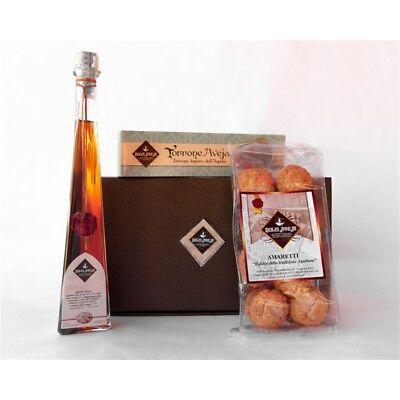 Pacco L'Aquila - Liquore Amaro Abruzzese 20cl, Amaretti 350g, Torrone Classico A