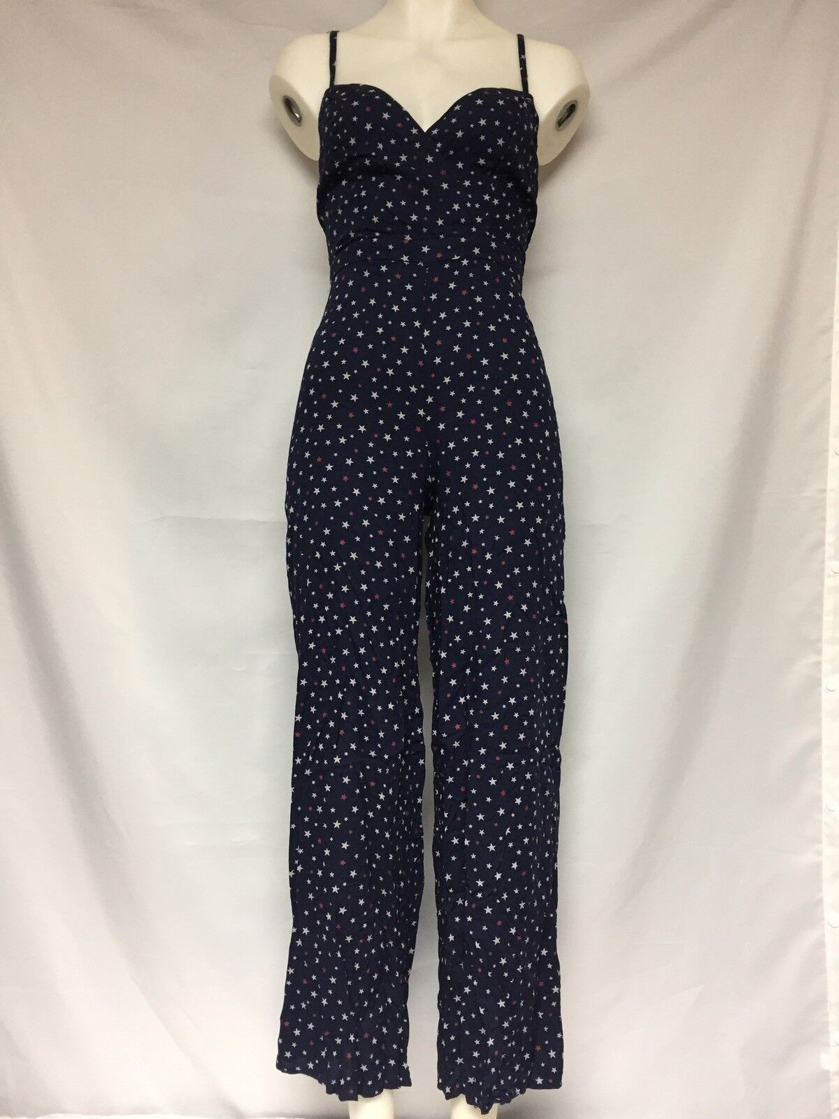 Denim and Supply Ralph Lauren  Star Print jumpsuit 288650073001 NWT bluee