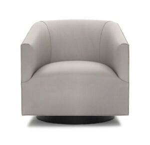 Stupendous Details About Mitchell Gold Bob Williams Cooper Return Swivel Leather Chair Vance Cement Home Interior And Landscaping Oversignezvosmurscom