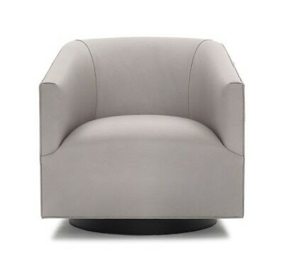 Magnificent Mitchell Gold Bob Williams Cooper Return Swivel Leather Chair Vance Cement Ebay Squirreltailoven Fun Painted Chair Ideas Images Squirreltailovenorg