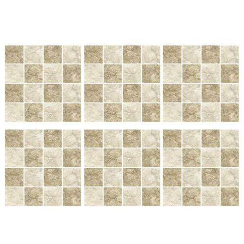 18//19pcs Kitchen Tile Stickers Bathroom Mosaic Sticker Self-adhesive Wall Decal#