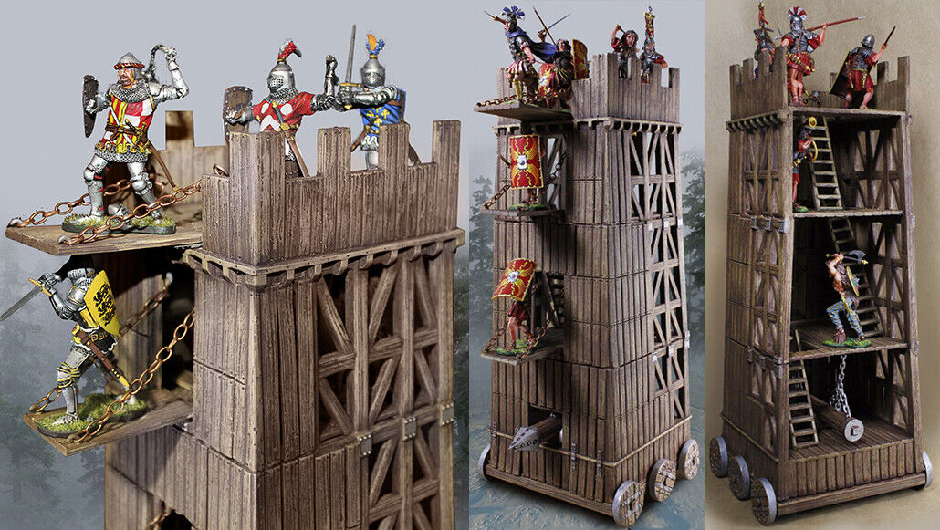 COLLECTORS SHOWCASE MEDIEVAL KNIGHTS CSSEIGE1 SIEGE TOWER MIB
