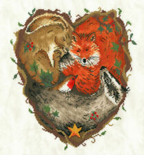 14 count speck Bothy Threads counted cross stitch kit Glad Tidings--fox cubs
