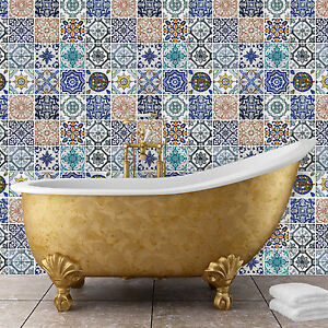 Details About Family Decoration Spanish Tiles Mosaic Decor Wall Stickers Home 120cm X 120cm