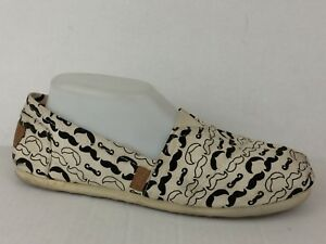 a3e8b3d602f Details about Steve Madden Girl GLORIEE Womens 9.5 M Canvas Flats Slip On  Shoe Black White
