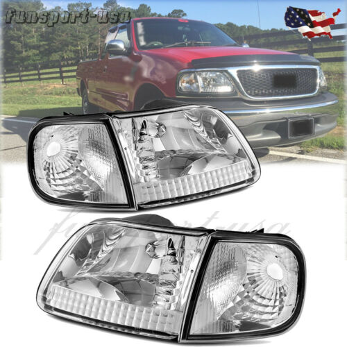 For 1997-2003 Ford F-150 F150 Expedition Headlights Corner Signal Lights Pair