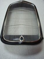 1932 Ford Hot Rod Steel Radiator Grill Shell + Stainless Grille Insert W Hole 32