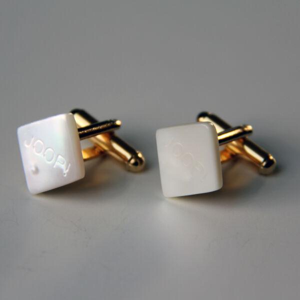 Joop! Manschettenknöpfe Perlmutt Gold, Rautenform (für Sie & Ihn), Aus Den 80ern