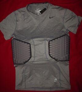 Nike Mens Pro Combat Hyperstrong Football Deflex Padded T