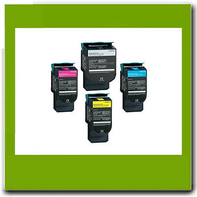4 Refurbished Toner for Lexmark C540 C543 C544 X543 X544dn C540H1MG C540H1KG
