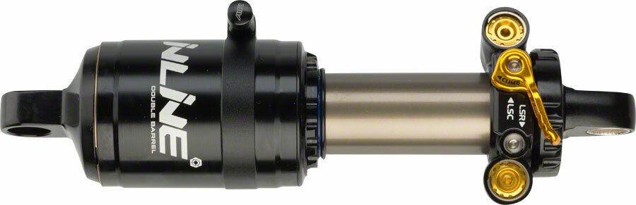 Cane Creek Amortiguador Trasero en línea de doble barril con 15mm ojo de extremo abierto