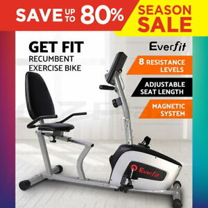 Everfit-Magnetic-Recumbent-Exercise-Bike-Fitness-Cycle-Trainer-with-LCD-Display