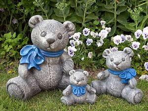Steinfigur-Baer-Teddy-Dekofigur-Gartenfigur-Gartendeko-Steinguss-frostfest