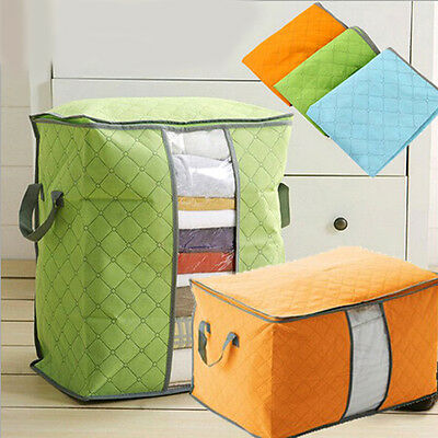 Foldable Storage Bag Clothes Blanket Closet Sweater Organizer Box Household WZ
