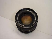 KONICA HEXANON AR 50mm f 1.7 prime lens SN7235601 (oily aperture)