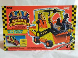 Tyco-The-Incredible-Crash-Dummies-Dirt-Digger-Bob-Crash-Mint-in-sealed-Box-1992