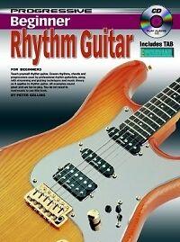 Progressive Débutant Rhythm Guitar Book & Cd-afficher Le Titre D'origine Volume Large