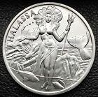 Trident Silver Thalassa Goddess Of The Sea 1 Troy oz .999 Fine Silver Coin