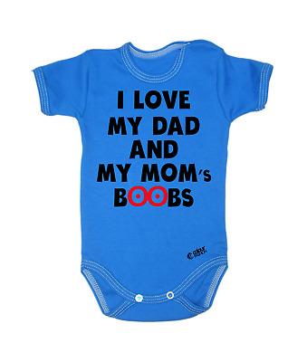 bebé Camisetas Bodis bebé Crecimiento I Listen to Metallica With My Daddy Unisex