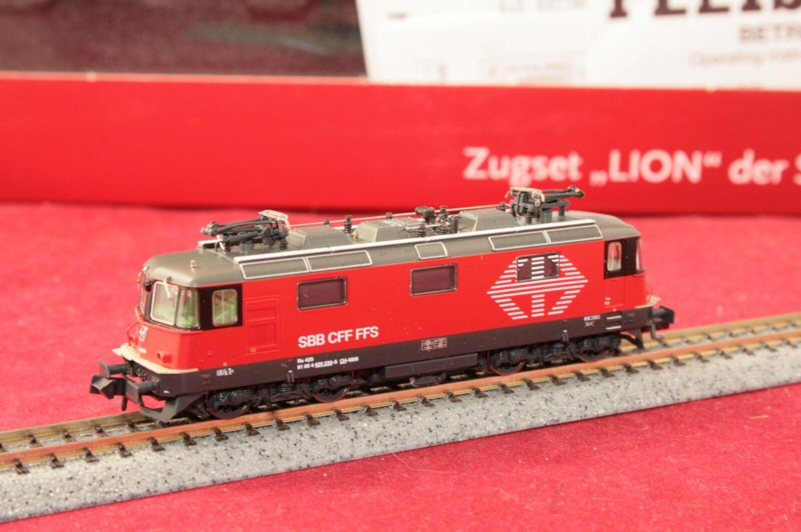 Fleischmann N 734076-1 E-Lok re4/4 420 230-5  Lion  digitale/SUONO + LUCE DI CAMBIO/NUOVO