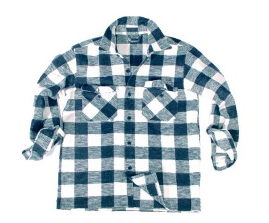 Boscaiolo Nero Bianco a Quadri boscaiolo camicie Western Equitazione S, M, XL NUOVO