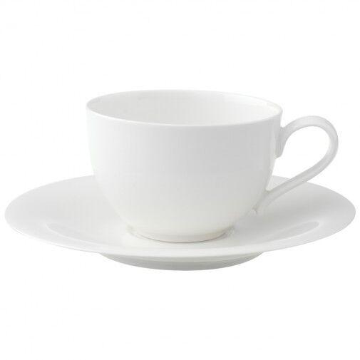 Villeroy & Boch 6 Tazze Caffè lungo+Piatto New Cottage Basic Bianco Rivenditore