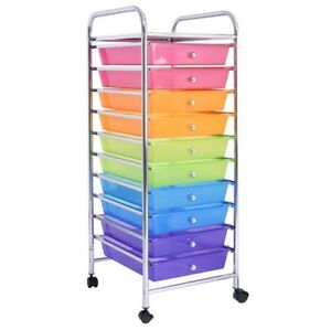 Image Is Loading 10 Drawers Rolling Storage Cart Scrapbook Paper Office