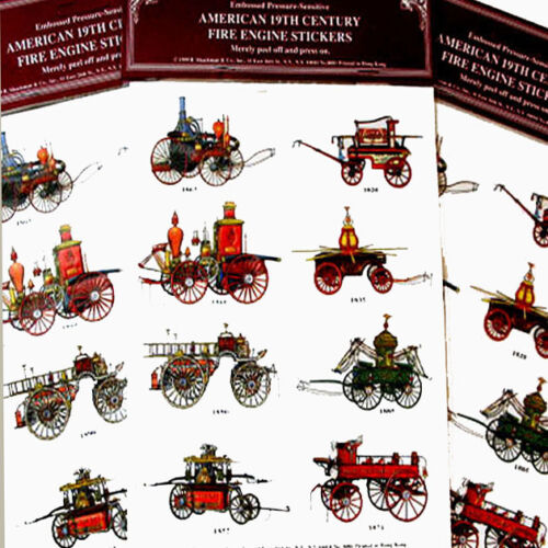 Antique AMERICAN FIRE ENGINE Seals Stickers Lot of 24 Mint//Sealed SHACKMAN
