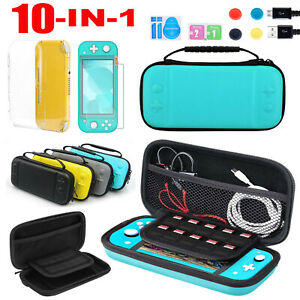 10in1 Carry Case Bag+Shell Cover+Glass Screen Protector For Nintendo Switch Lite