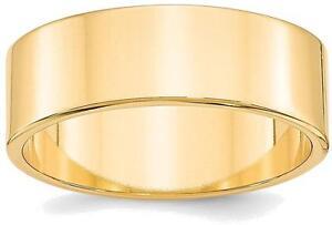 Aus Dem Ausland Importiert 14k Gelbgold 7mm Leicht Flach Ehering Elegante Form