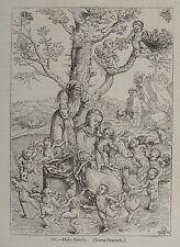 1852-LUCAS CRANACH-SACRA FAMIGLIA-HOLY FAMILY-XILOGRAFIA