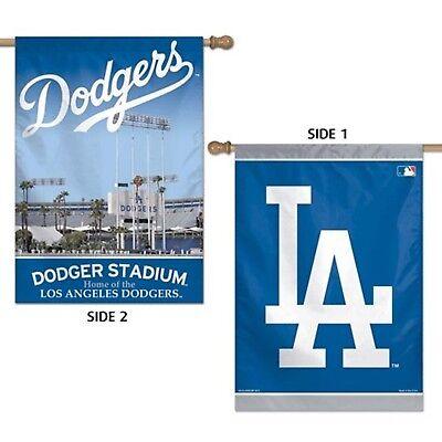 100% Vero Los Angeles Dodgers Wc Premium Bilaterale 28x40 Striscione Esterno Casa Bandiera