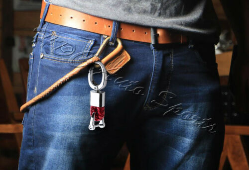 Universal Red Key chain Ring BV Style Calf Leather Gift Decoration