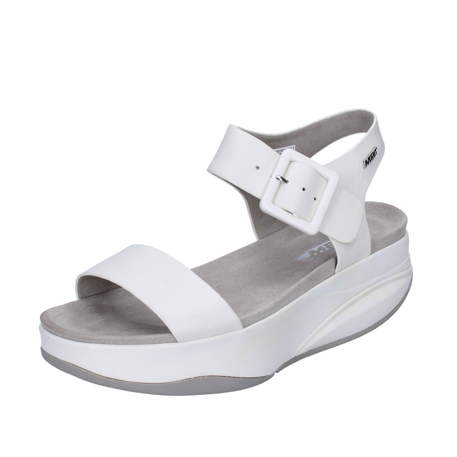 scarpe donna sandali MBT MANNI 42 EU sandali donna bianco pelle performance BX884-42 724f35