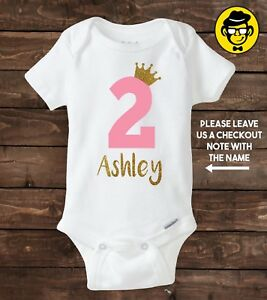 Image Is Loading Two Year Old Custom Birthday Shirt Girl 2nd