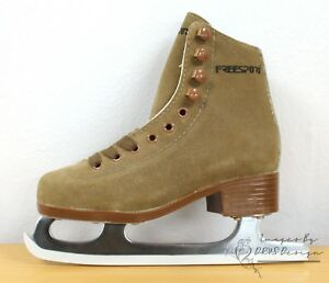 Freesport-Girls-Figure-Skates-Tan-Ice-Skates-CLEARANCE-SALE