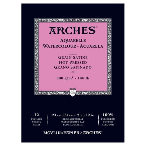 Papel Arches artistas waterclour engomado Almohadillas Prensado en Frío//Caliente 140lb 300gsm áspero