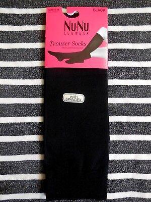 9-11 WOMEN/'S WHITE KNEE HIGH TROUSER NYLON SOCKS 3 PAIR SOCKS SIZE 9-11
