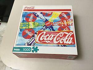 COLLECTIBLE-COCA-COLA-POP-ART-BUFFALO-GAMES-1000-PC-JIGSAW-PUZZLE