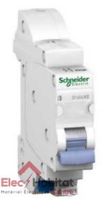 Disjoncteur unipolaire+neutre déclic 10A XE Schneider 16725