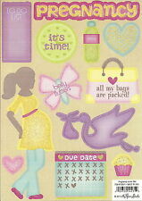 PREGNANCY ICONS Baby Glitter Scrapbook Stickers