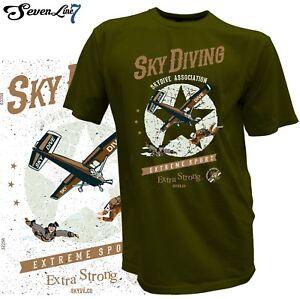 T-Shirt-Fallschirm-Gleitschirm-Skydiving-Fallschirmspringer-Parachute-Fliegen