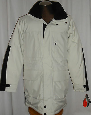 NWT MEN'S NAUTICA COASTAL ISLES SILVER BIRCH LONG DOWN COAT Size: MEDIUM $348!
