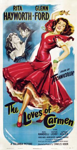 "Rita Hayworth  in THE LOVES OF CARMEN  24/""x36/""Canvas Classic Movie Poster"