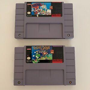Yoshis Safari & Mario Paint Snes Super Nintendo Game Works Tested Authentic
