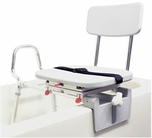 Snap-N-Save Sliding Shower Chair Tub-Mount Bath Transfer Bench ...