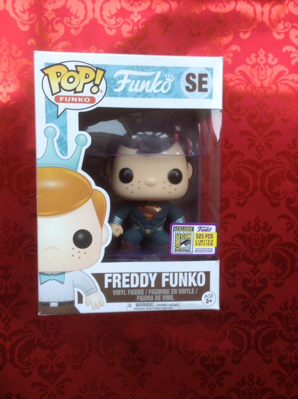 Funko Pop Vinyl Freddy Funko Superman Sdcc Ltd 525 Pcs