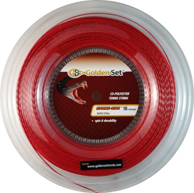 40ft Set GSI Snake-Bite Smooth 16 red tennis string
