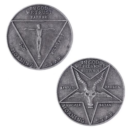 Lucifers Morning Star Satan Pentecostal Coin Specie Cosplay Collectible CoinsQ0E